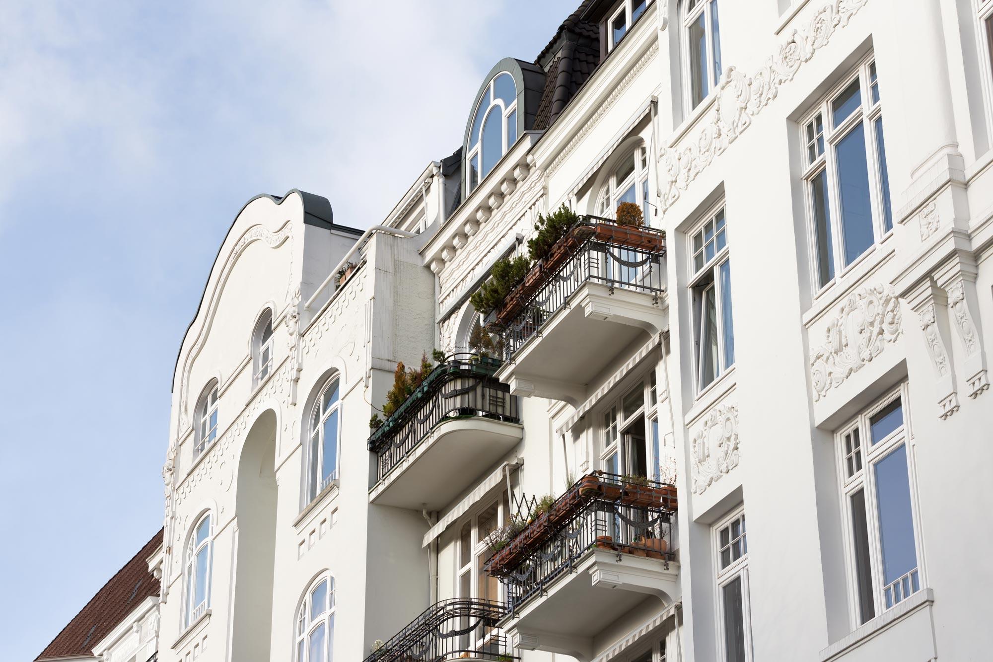 Schönes Altbaugebäude in Hamburg